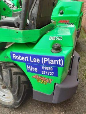 Robert Lee Plant Hire – now LIVE!